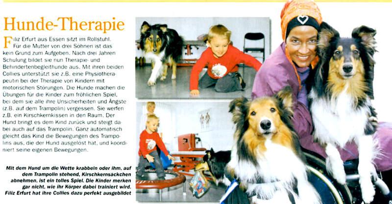 Medienecho 2008 Filiz Erfurt Hunde-Therapie