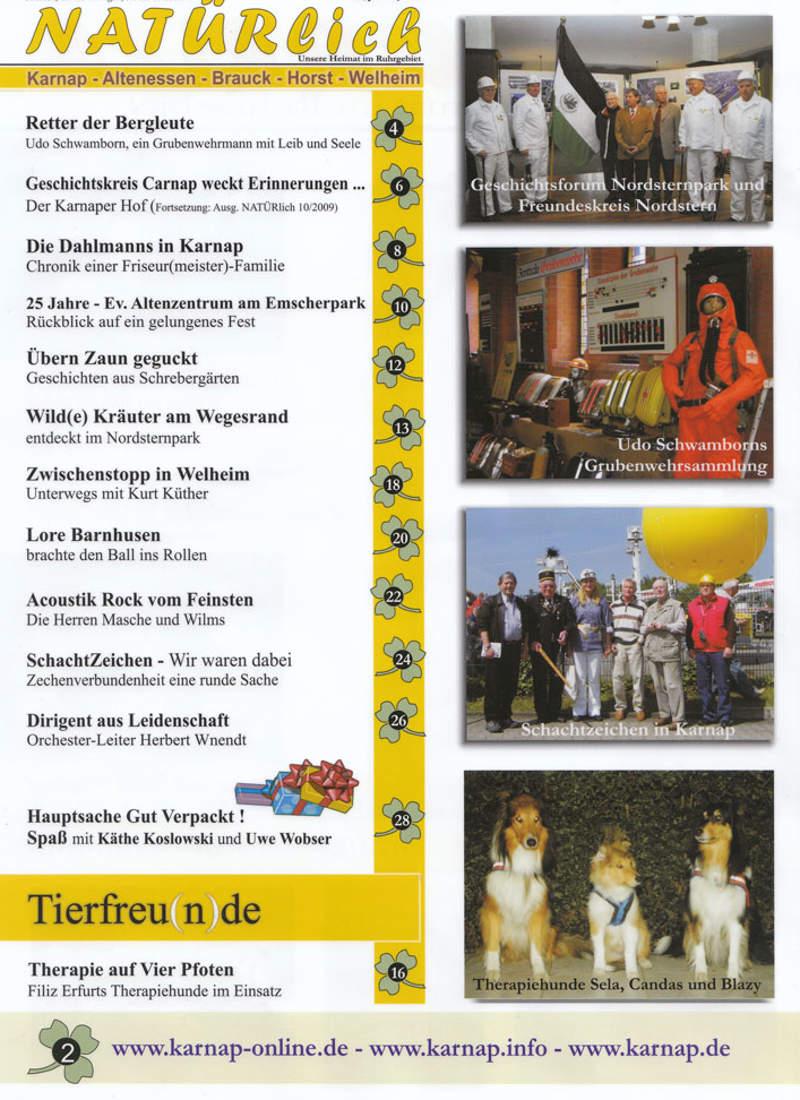 NATÜRLICH & Therapiehunde im Magazin