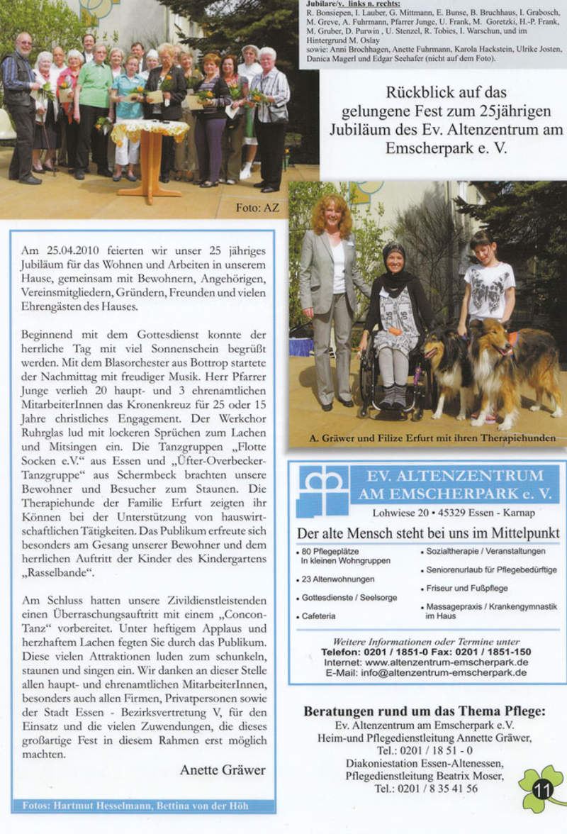Therapiehunde im Altenzentrum
