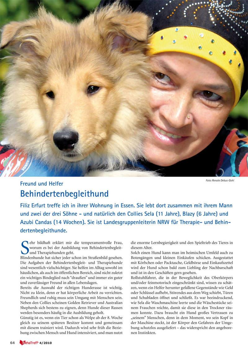 Magazin Reha Treff: Behindertenbegleithund - Freund & Helfer