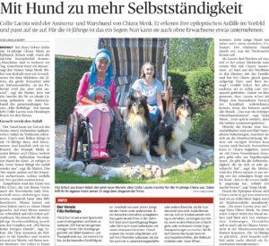 Print-Artikel 'Therapiehund'